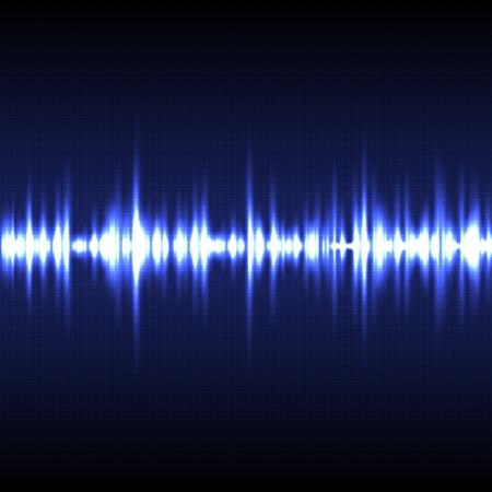 pulsating: Vector illustration of blue light pulse background.