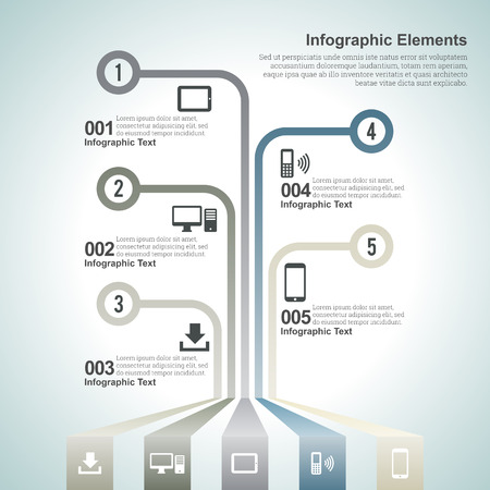 info graphics: Vector illustration of information graphic, or infographic design elements.