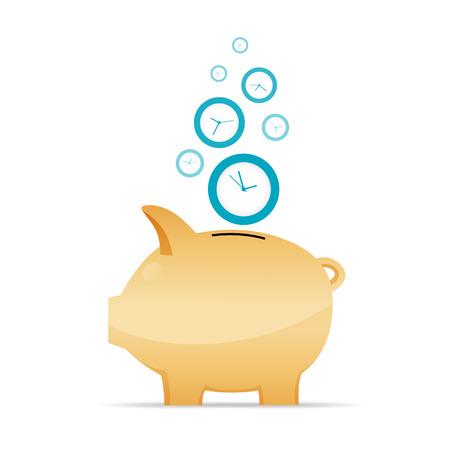illustratie van de tijd als geld concept.