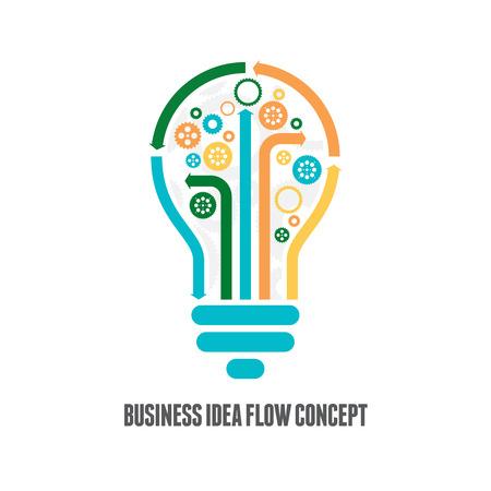 lightbulb icon: Vector illustration of business idea flow concept.