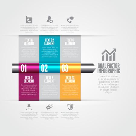 factor: Vector illustration of goal factor infographic design elements.