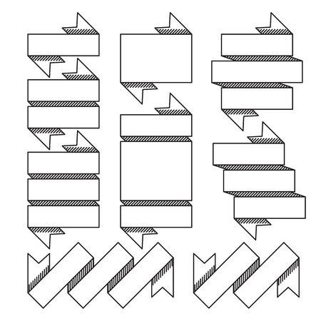 textspace: Vector illustration of clean line ribbon design element. Illustration