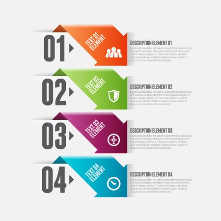 textspace: Vector illustration of arrow option infographic design element.