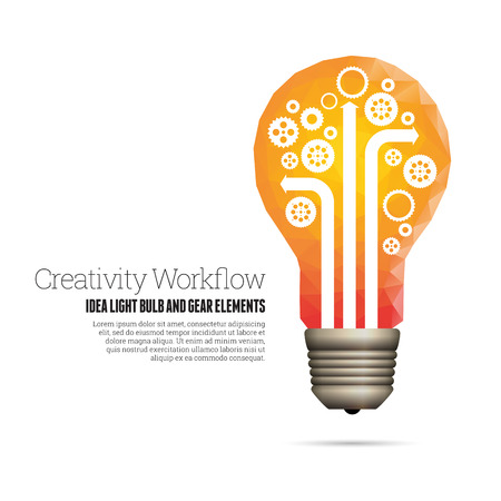 innovation: Vector illustration of creativity workflow conceptual design elements. Illustration