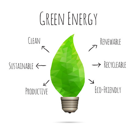 clean energy: Vector illustration of clean green energy conceptual design element.
