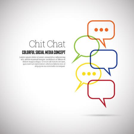 chit: Vector illustration of chit chat social media concept design element.