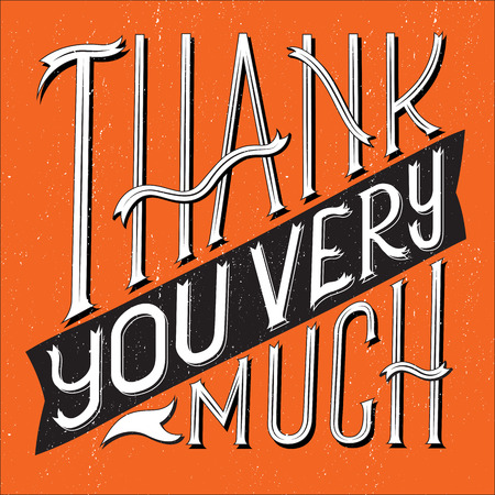 thank you very much: Vector illustration of Thank You Very Much typography with square shape. Illustration