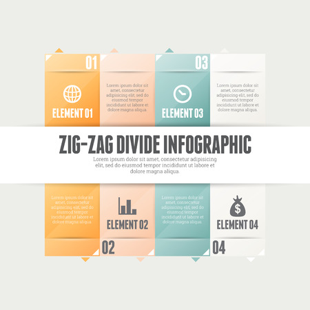 divides: Ilustraci�n vectorial de zig-zag dividir elementos de dise�o infogr�ficos. Vectores