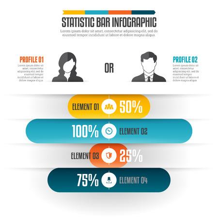 illustratie van statistiek bar infographic design element.