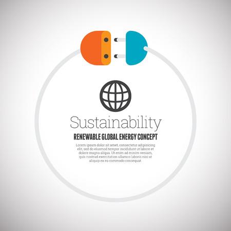 circling: illustration of copyspace design element of renewable energy concept. Illustration