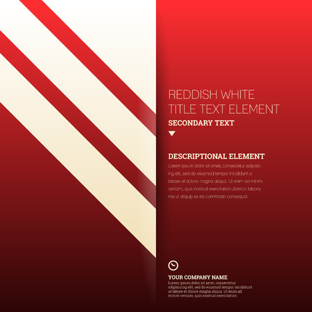 graphical chart: template illustration of reddish white striped text background.