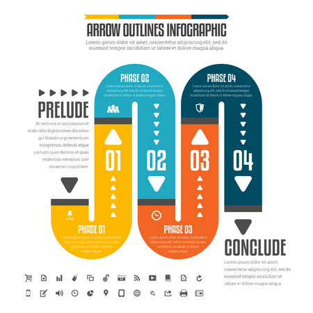 Vector illustration of flat pipe infographic design elements. Ilustrace