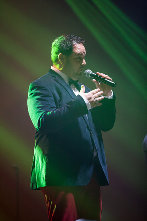 celeb: JAKARTA, INDONESIA - OCTOBER 6, 2013: Tony Borowiak of All-4-One, an American R&B group performs at the 6th LA Lights Java Soulnation Festival 2013 on October 6, 2013 in Jakarta, Indonesia.