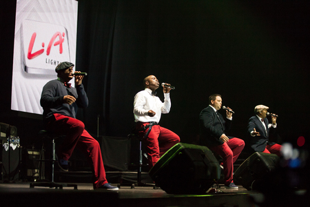 the quartet: JAKARTA, INDONESIA - OCTOBER 6, 2013: American R&B group All-4-One performs at the 6th LA Lights Java Soulnation Festival 2013 on October 6, 2013 in Jakarta, Indonesia. Editorial