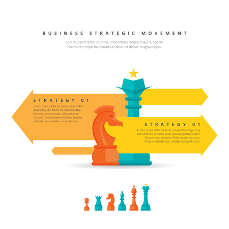 movement: Vector illustration of business strategic movement concept.