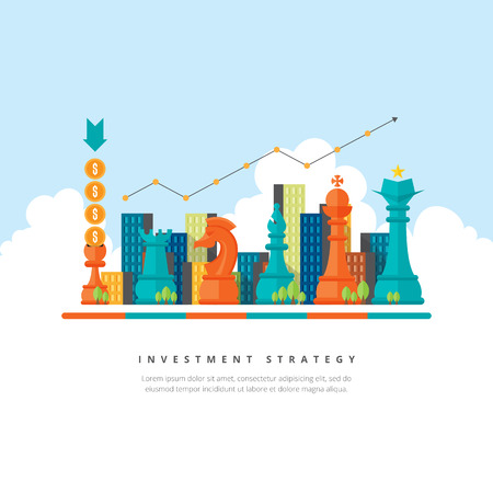 investment concept: Vector illustration of investment strategy concept. Illustration
