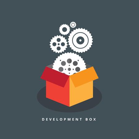 accelerate: Vector illustration of development process box.