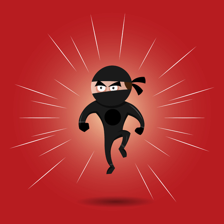 menacing: cartoon illustration of a ninja superhero style. Illustration