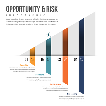 graphical chart: Vector illustration of opportunity and risk infographic design element.