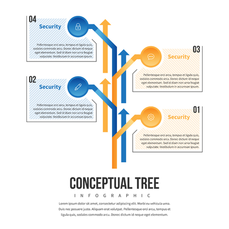 graphical chart: Vector illustration of concept tree infographic design element.