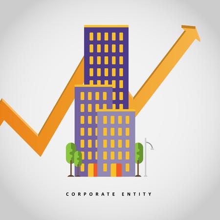 Vector illustration of corporate entity concept design element.