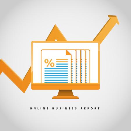 Vector illustration of online report concept design element. Stock Illustratie