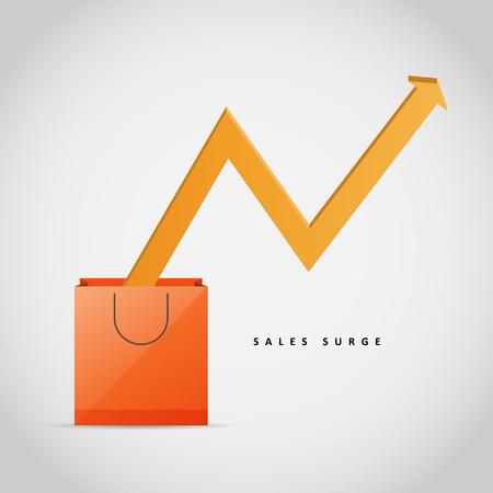 Vector illustration of sales surge design element. Stock Illustratie