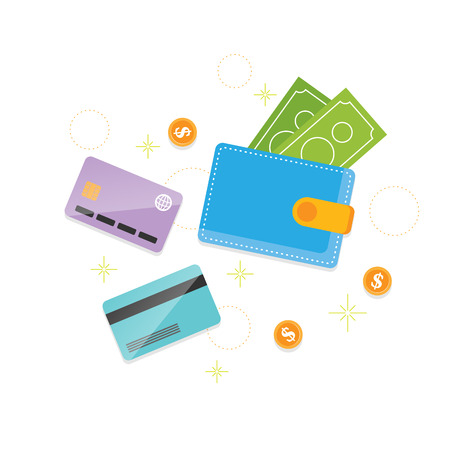 Vector illustration of conventional money concept design element. Stock Illustratie