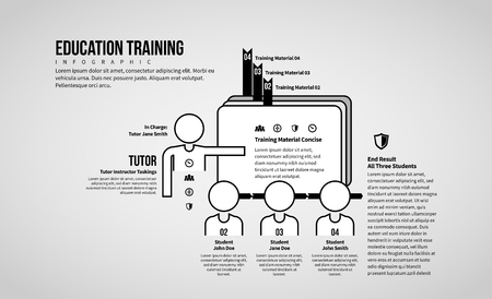 Vector illustration of Education Training Infographic design element.