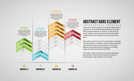 Vector illustration of Abstract Bars Element Infographic design element.
