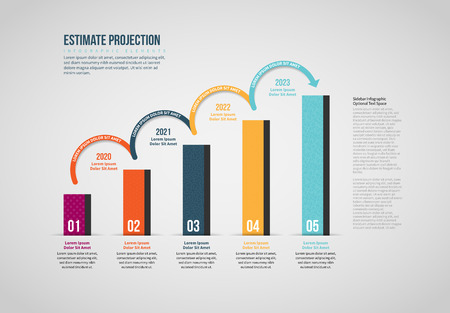 Vector illustration of Estimate Projection Infographic design element.