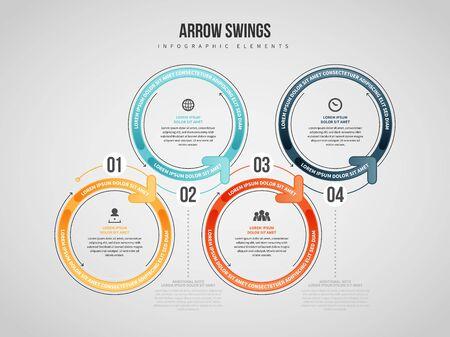 Vector illustration of Arrow Swings Infographic design element. Stock Illustratie