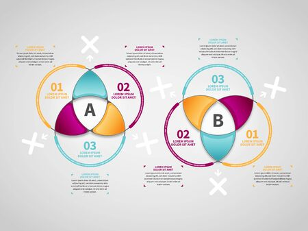 Vector illustration of Triangle Intersects Infographic design element.