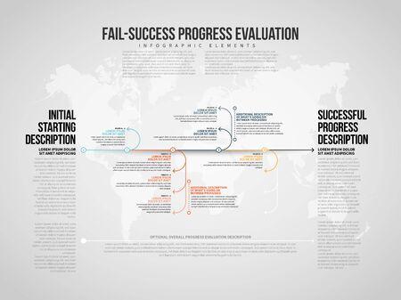 Vector illustration of Fail-Success Progress Infographic design element.