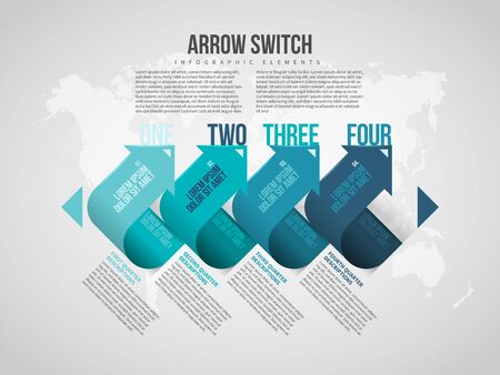Vector illustration of Arrow Switch Infographic design element.