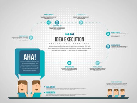 Vector illustration of Idea Execution Infographic design element.