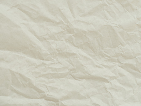 parch: Paper texture. Unique crumpled white paper sheet for background. Stock Photo