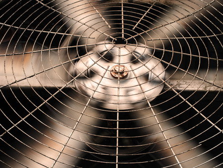 HVAC (Heating, Ventilation and Air Conditioning) spining blades / Closeup of ventilator / Industrial ventilation fan background / Air Conditioner Ventilation Fan / Ventilation system