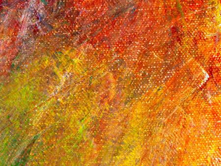 Colorful abstract art oil paint acrylic color on canvas for background. Warm orange tone.
