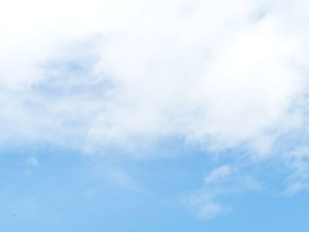 Cloud and sky. Soft white clouds against with soft blue sky for background or backdrop.
