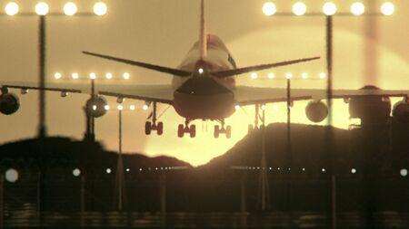Landing Airplane, Close Up