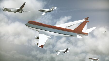 Many Airliners In The Sky, Daytime