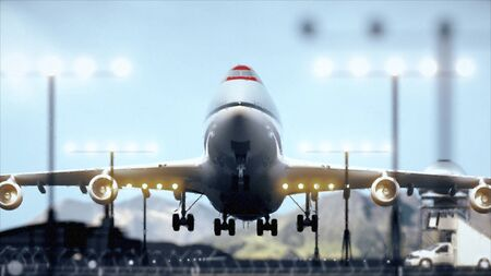 Airliner Taking Off, CloseUp