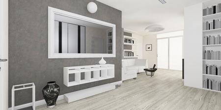 modern living room: Modern interior of the living room visualization