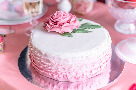 ombre cake: Dessert table, Pink wedding cake
