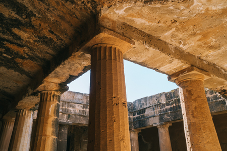 Ancient columns in royal tombs, Paphos, Cyprus