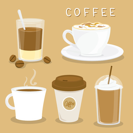 coffee cup vector: Coffee Cup Cartoon Vector Illustration