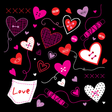 suture: Valentine I Love You Sweetheart Cute Cartoon Vector Illustration