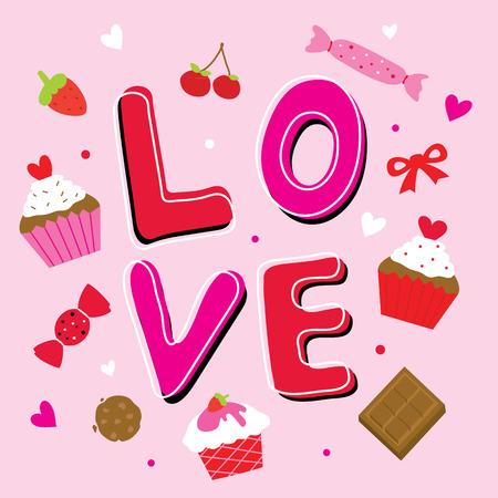 sweetheart: Valentine Love Sweetheart Cute Cartoon Vector
