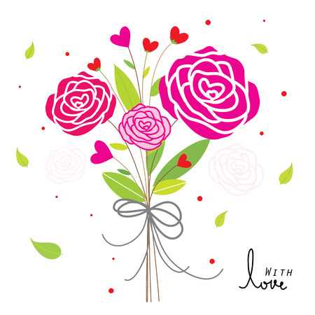 sweetheart: Rose For Only You Sweetheart Cute Cartoon Vector